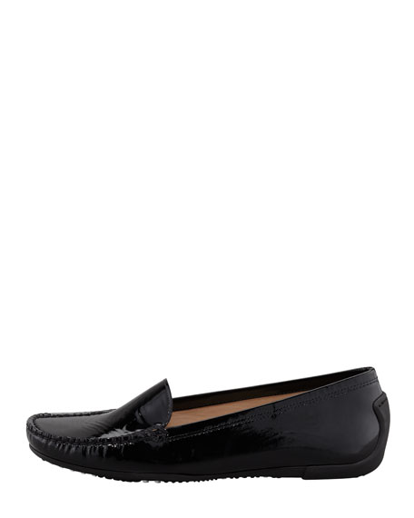 Mach 1 Patent Leather Driver Moccasin, Black