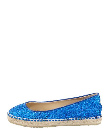 POW Glitter Espadrille, Blue