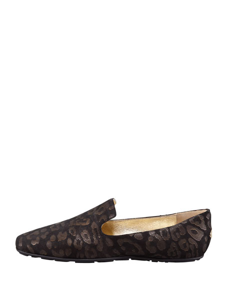Wheel Leopard Loafer, Black