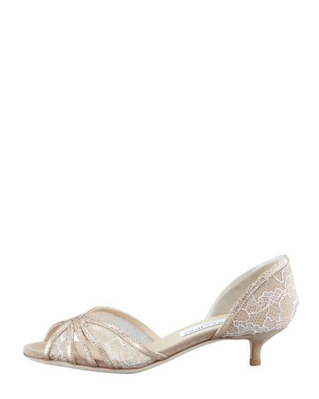 Filo Lace Kitten-Heel d'Orsay