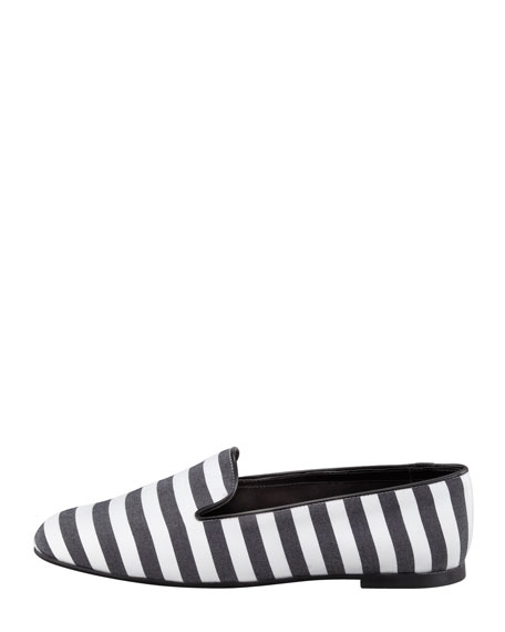 Striped Slipper, Black/White