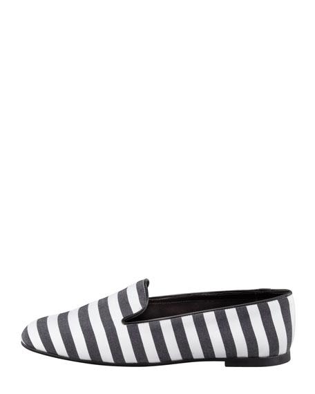 Striped Slipper, Black/White