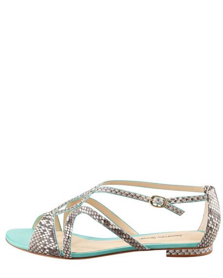 Python Swirl Flat Sandal, Enseada
