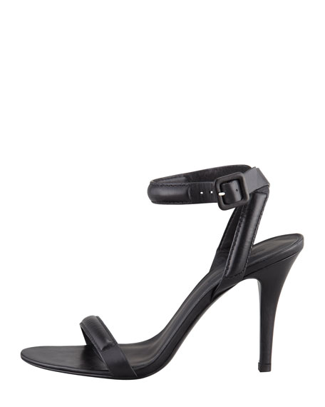 Antonia Leather Ankle-Wrap Sandal