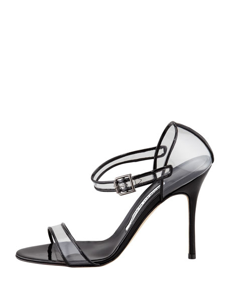 Fersen See-Through Mary Jane Sandal, Black