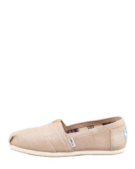 Metallic Hemp Slip-On