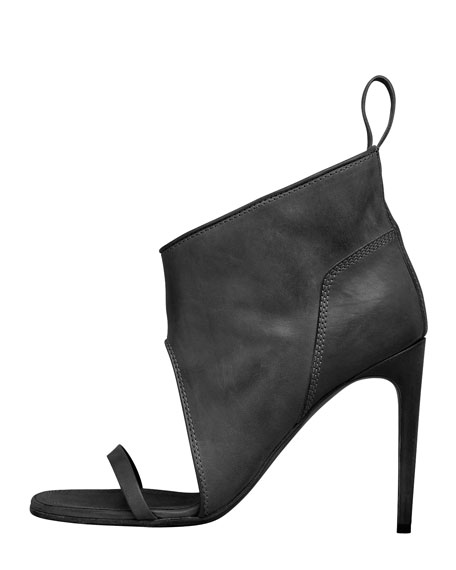 Open-Toe Bootie, Black