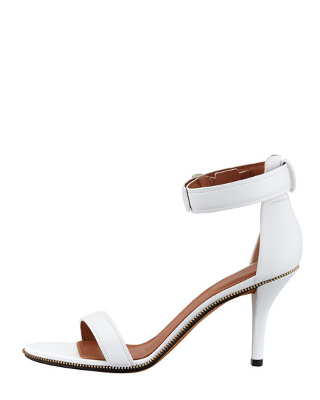 Leather Ankle Wrap Sandal