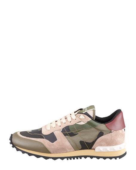 Rockstud Camo-Print Sneaker
