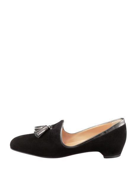 Lady Moc Suede Loafer, Black