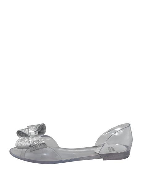 Gemini Glitter-Bow Jelly d'Orsay Flat
