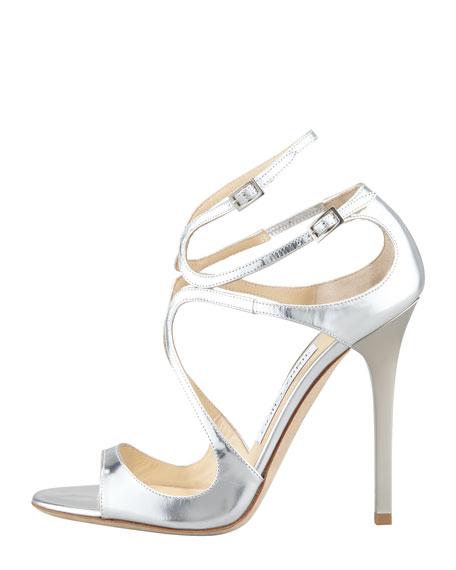 Lang Metallic Strappy Sandal, Silver