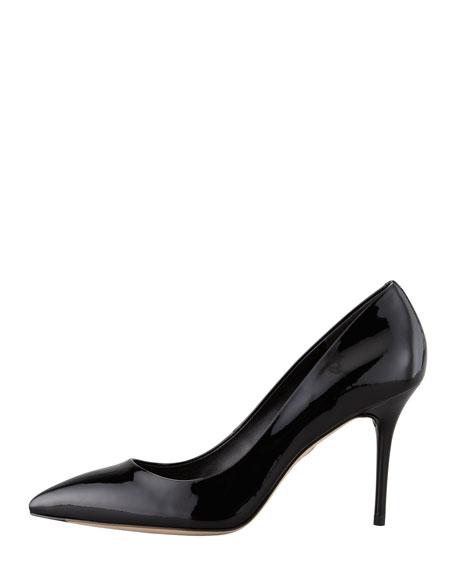 Malika Patent Pointed-Toe Pump, Black