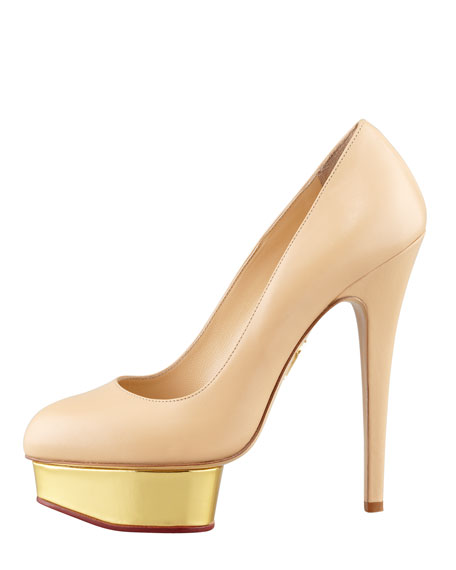 Dolly Island Platform Pump, Nude