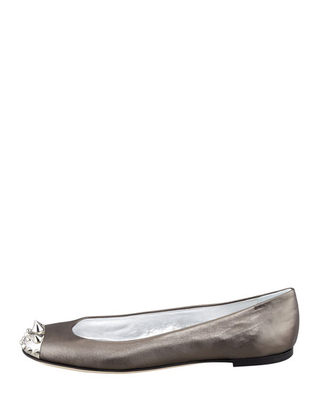 Spike-Toe Ballerina Flat, Anthracite