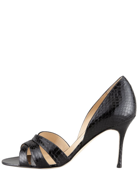 Minia Crisscross Watersnake d'Orsay, Black