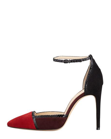 Colorblock Ankle-Wrap d'Orsay Pump