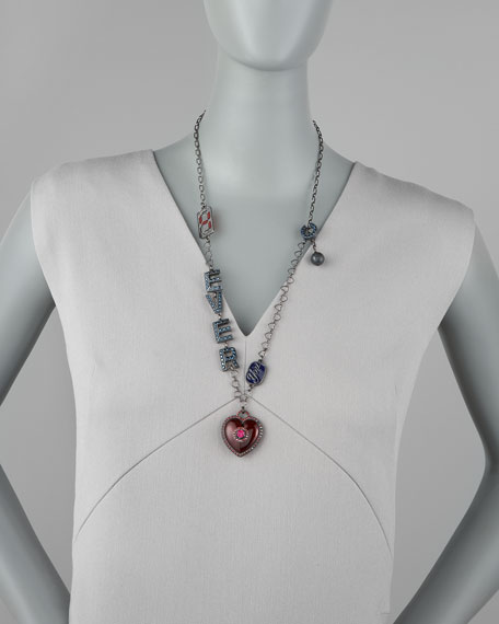 Heart You 4-Ever Pendant Long Necklace