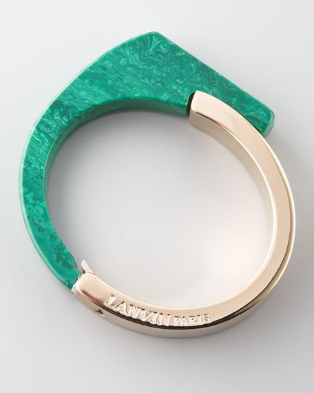 Abstract Resin Bracelet, Green