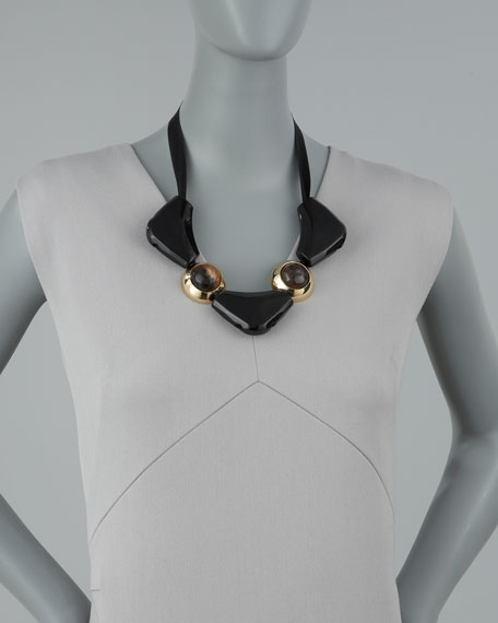 Triangle-Station Bib Necklace