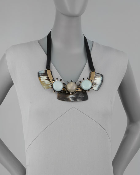 Three-Stone Bib Necklace