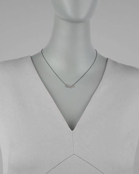 Diamond Hope Pendant Necklace,