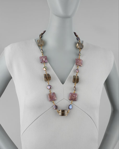 Single Strand Multi-Stone Necklace