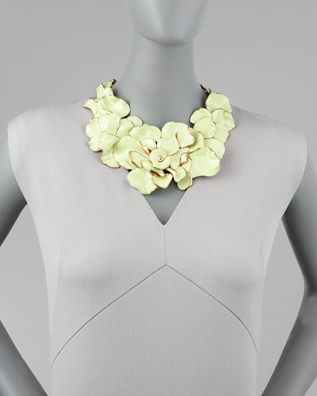 Large Flower Collar Necklace, Peridot