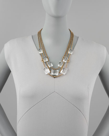 Three-Strand Rock Crystal Necklace