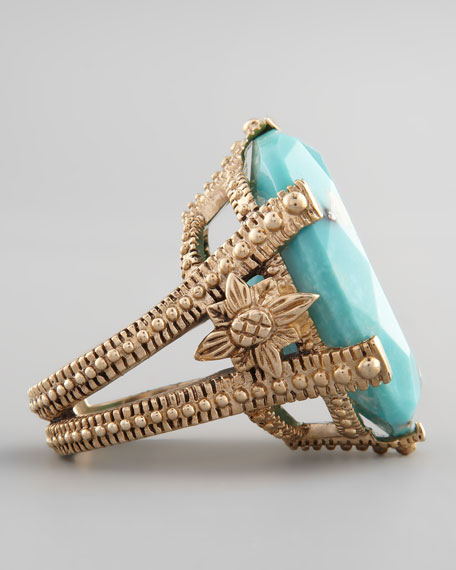 Oval Turquoise Cocktail Ring