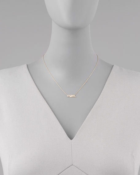 Diamond Mom Pendant Necklace