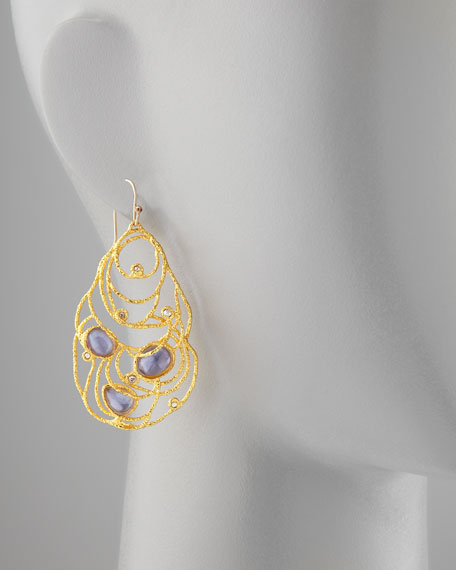 Mauritius Golden Lace Drop Earrings