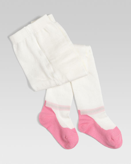 Baby Dance Tights with Knit Shoe