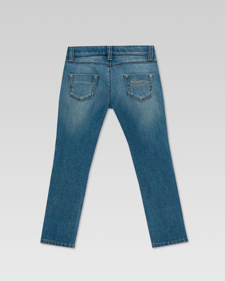 Strass Logo Skinny Jeans