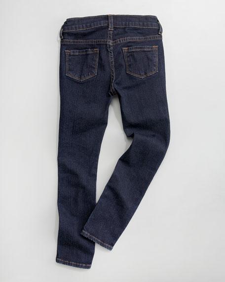 Skinny Lullaby Jeans, Baby Blue/Dark Indigo