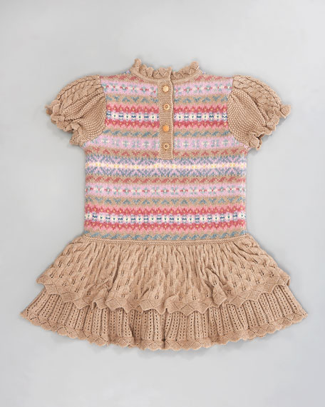 Fair Isle Ruffle Dress