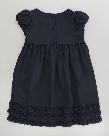 Ruffle-Trim Chiffon Dress