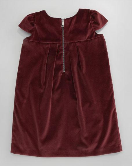Dash Cap-Sleeve Velvet Dress