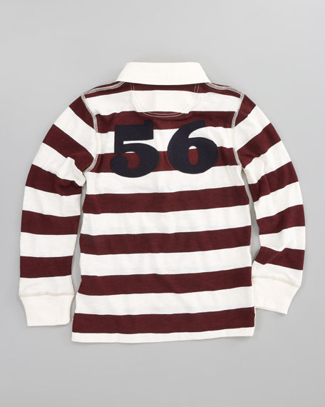 56 Striped Rugby Polo