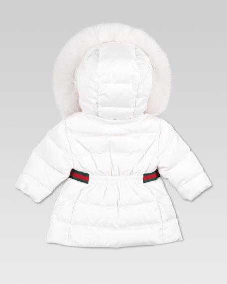 Fur-Trim Waterproof Nylon Jacket