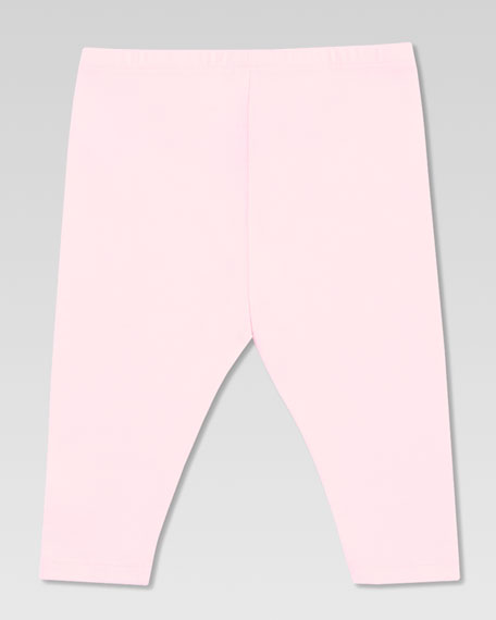 Web Bow Jersey Leggings, Powder Pink