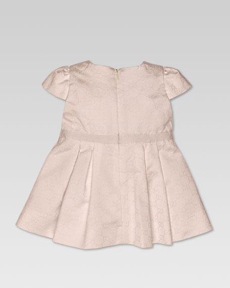 Jacquard Pleated Satin Dress