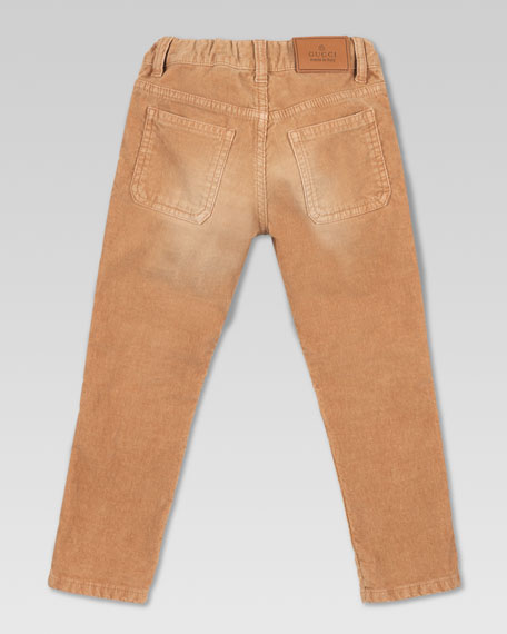 Stone-Washed Corduroy Pants