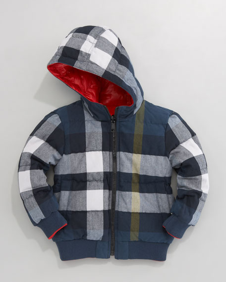 Reversible Quilted Coat, Union Red