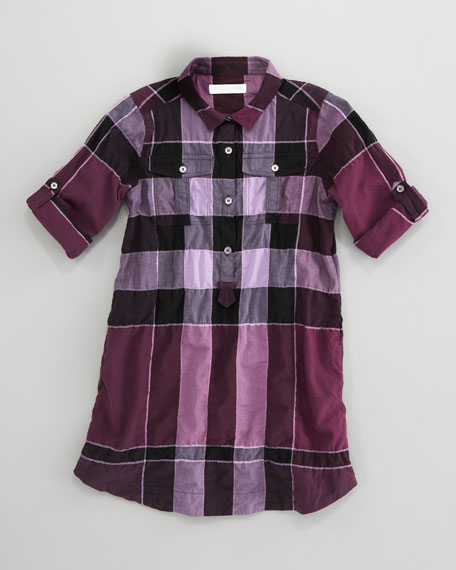 Giant Exploded Check Shirtdress