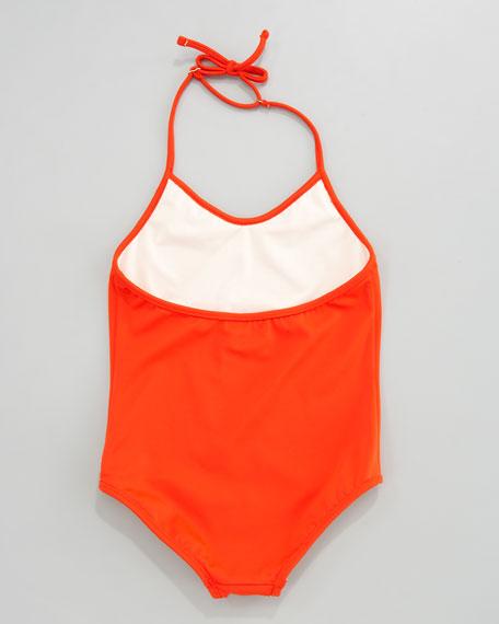 Neon Halter Swimsuit, Sizes 2-7