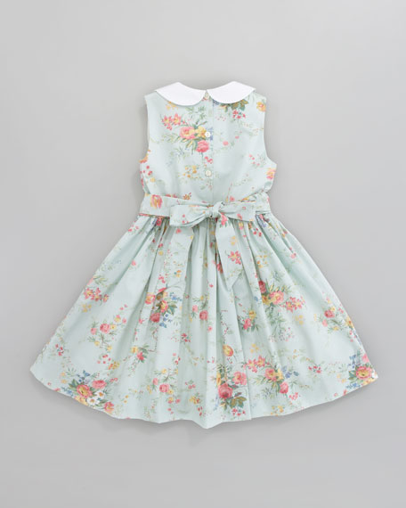 Spring-Floral Sleeveless Dress