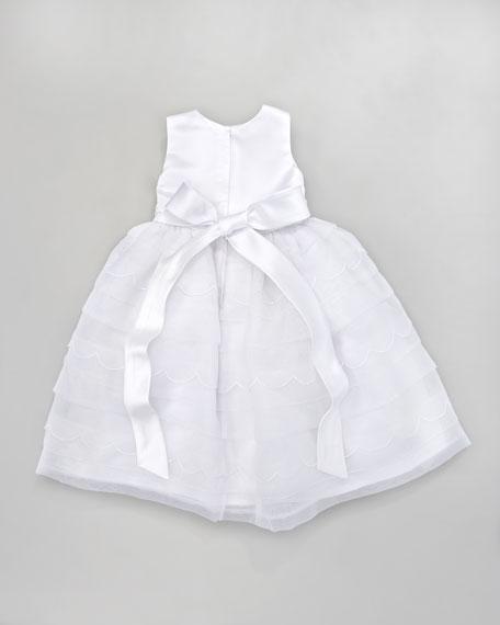 Scalloped Tea-Length Dress
