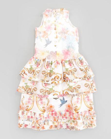 Silk Floral Dress, Sizes 2-6