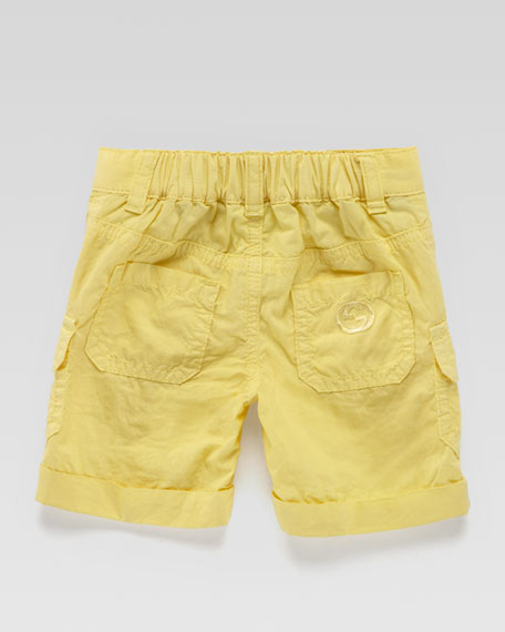 Poplin Cargo Shorts, Yellow